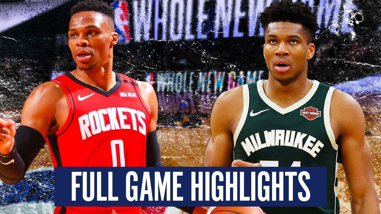 Download MILWAUKEE BUCKS vs HOUSTON ROCKETS - FULL GAME HIGHLIGHTS   2019-20 NBA Season