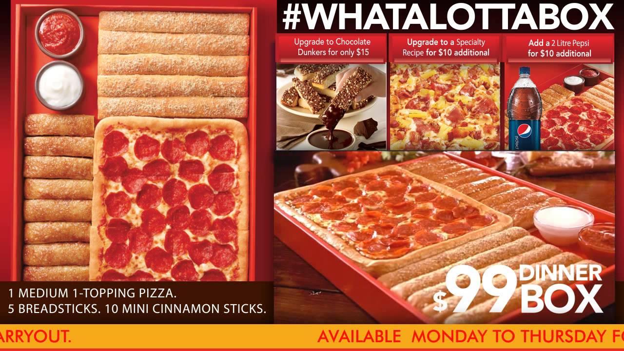 Pizza Hut Dinner Box Youtube