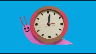DIY Cute Table Clock || How to Make Table Clock From Cardboard