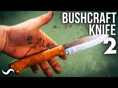 MAKING A BUSHCRAFT KNIFE!!! Part 2 With TA Outdoors!!