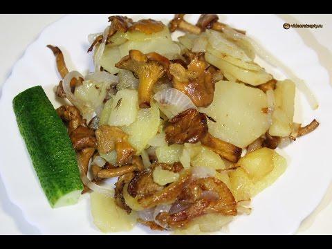 Жареная картошка с грибами / Fried potatoes with mushrooms   Видео Рецепт