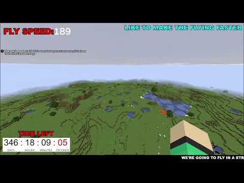 Flying around the world in Minecraft FOR 1 YEAR, but every like makes it Faster