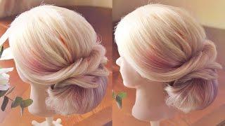 Нежная причёска в греческом стиле | Авторские причёски | Hairstyles by REM | Copyright ©