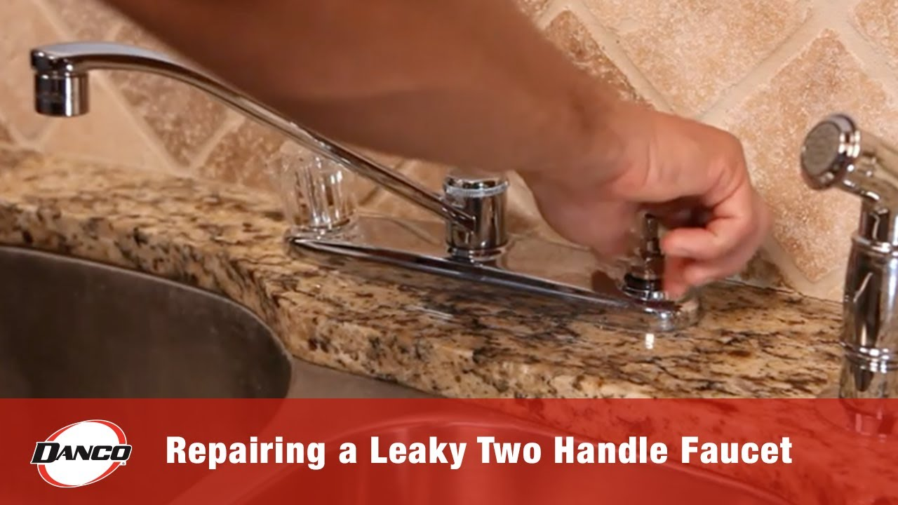 repairing a leaky two handle faucet