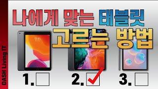 태블릿, 나한테 어떤 태블릿이 잘 어울릴까?