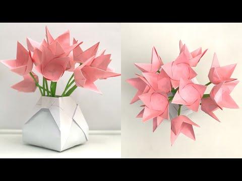 Flower Vase Decoration Ideas | Paper Flowers | Paper Flower  | Paper Craft | Paper Craft Flowers