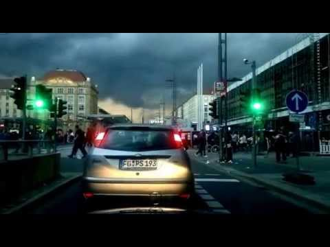 Driving in Dresden, Germany