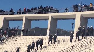 A.E.K. Hooligans Vs Paok Hooligans (Greek Cup Final Volos 2017 )