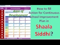 How to fill Action for Continuous School Improvement Plan in Shaala Siddhi? hindi/urdu