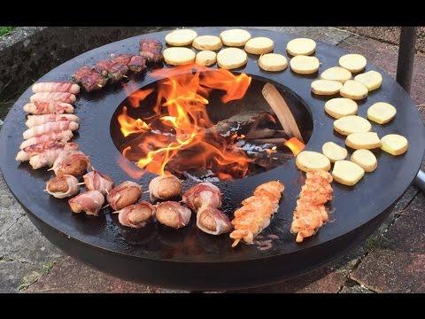 Feuerschale mit Teppanyaki Grillring