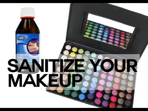 How to sanitize your makeup ( palettes, lipsticks + concealers )
