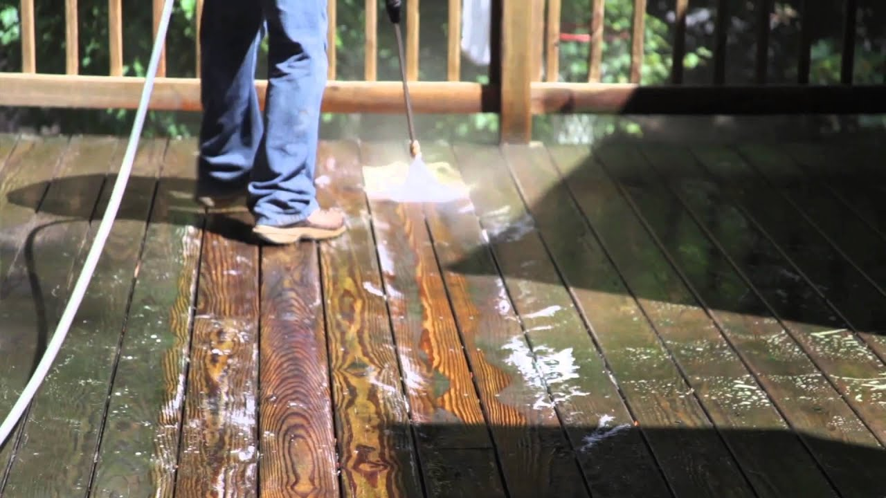 When to stain pressure treated wood - Revitalizing A Pressure Treated Wood Deck Pt 1 Cleaning And Preparation Youtube