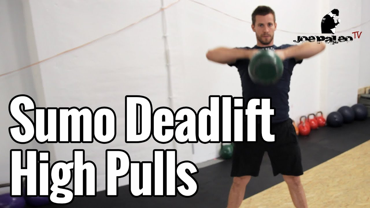 Sumo Deadlift High Pull Kettlebell Crossfit übung