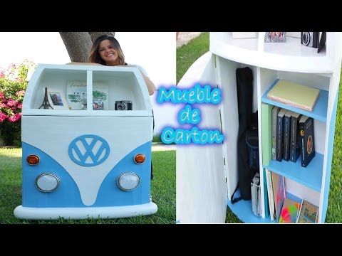 MUEBLE DE CARTÓN VOLKSWAGEN CALIFORNIA ★ DIY ★ Mery   - CARDBOARD FURNITURE VOLKSWAGEN CALIFORNIA