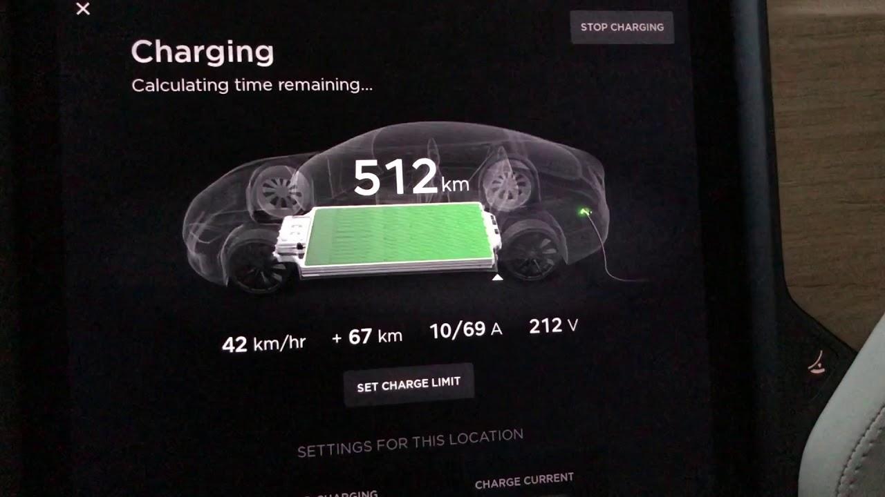 Tesla P100d Full Charge Range Increased