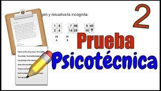 PRUEBA PSICOTÉCNICA - Ejemplo 02 thumbnail