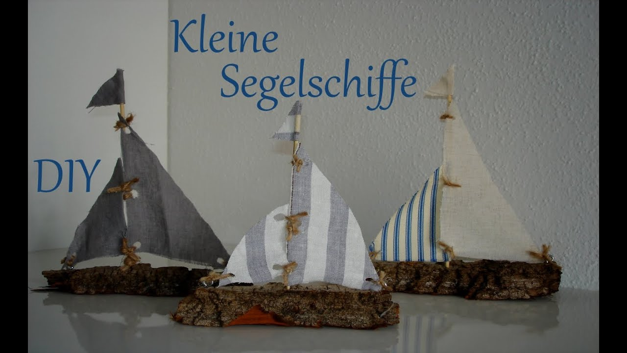 diy maritime sommerdeko kleine segelschiffe aus rinde und stoff just deko youtube. Black Bedroom Furniture Sets. Home Design Ideas