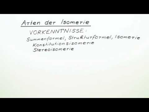 arten der isomerie chemie organische chemie youtube. Black Bedroom Furniture Sets. Home Design Ideas