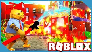 ROBLOX FIRE FIGHTING SIMULATOR (New Snowball Launcher & Godly Helmets)