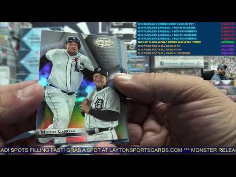 The Layton Sports Cards 70 Box World Series Flawless Treasures Baseball Mixer