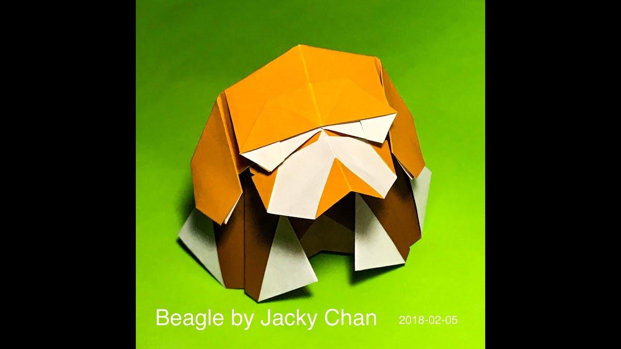 Origami Beagle by Jacky Chan