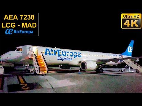 TRIP REPORT | Coruña - Madrid | AIR EUROPA E195 Flight Experience