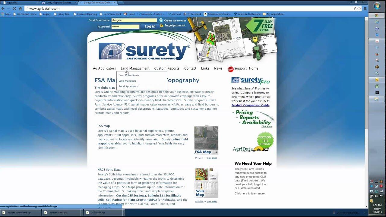 Surety Map Export YouTube - Surety maps