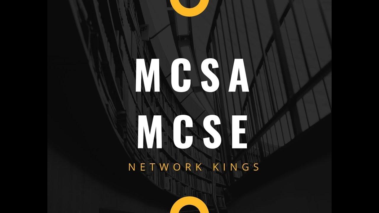 Mcsa Mcse Microsoft Certifications Youtube