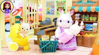Sylvanian Families Calico Critters Grocery Market Setup & Silly Play
