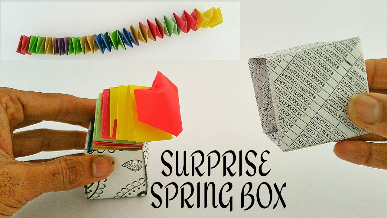 How To Make A Surprise Spring Box