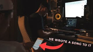 MAKING A BEAT WITH A RAPPER *he wrote a song to it*