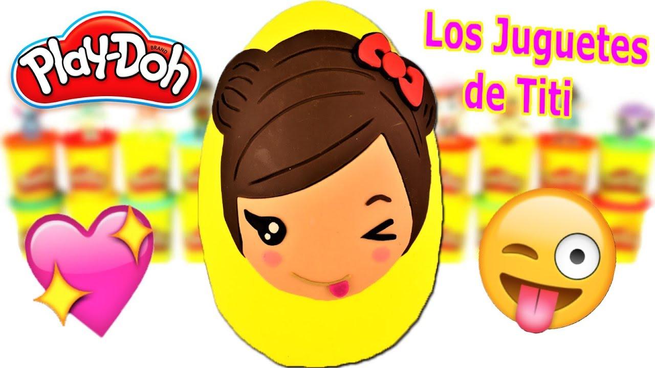 Huevo Sorpresa Gigante de Los Juguetes de Titi de Plastilina Play Doh en Español