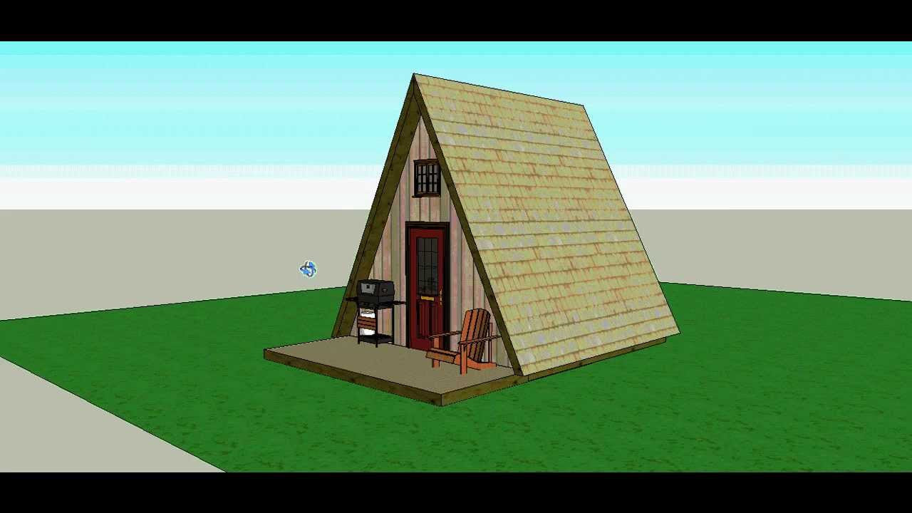 A frame 14x14 cabin by solarcabin youtube for A frame style house
