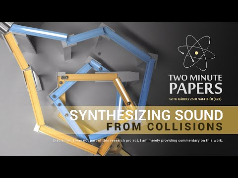 Synthesizing Sound From Collisions | Two Minute Papers #15