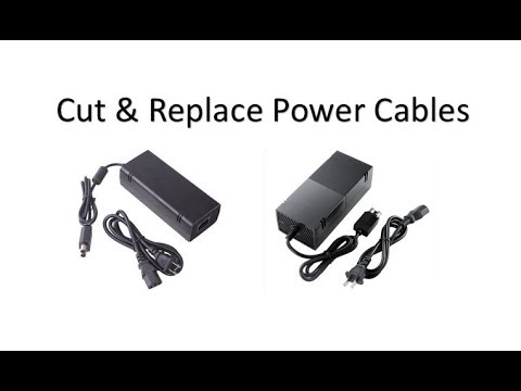 how to cut and replace xbox one and xbox 360 power supply cables
