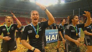 The Black Ferns first Rugby World Cup Sevens win