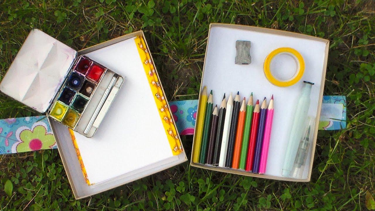 DIY Mini Travel Art Box - YouTube