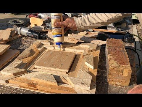 2 pallet wood frames