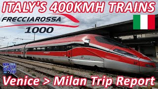 400KM/H ITALIAN FLAGSHIP TRAIN / FRECCIAROSSA 1000 REVIEW / ITALIAN TRAIN TRIP REPORT