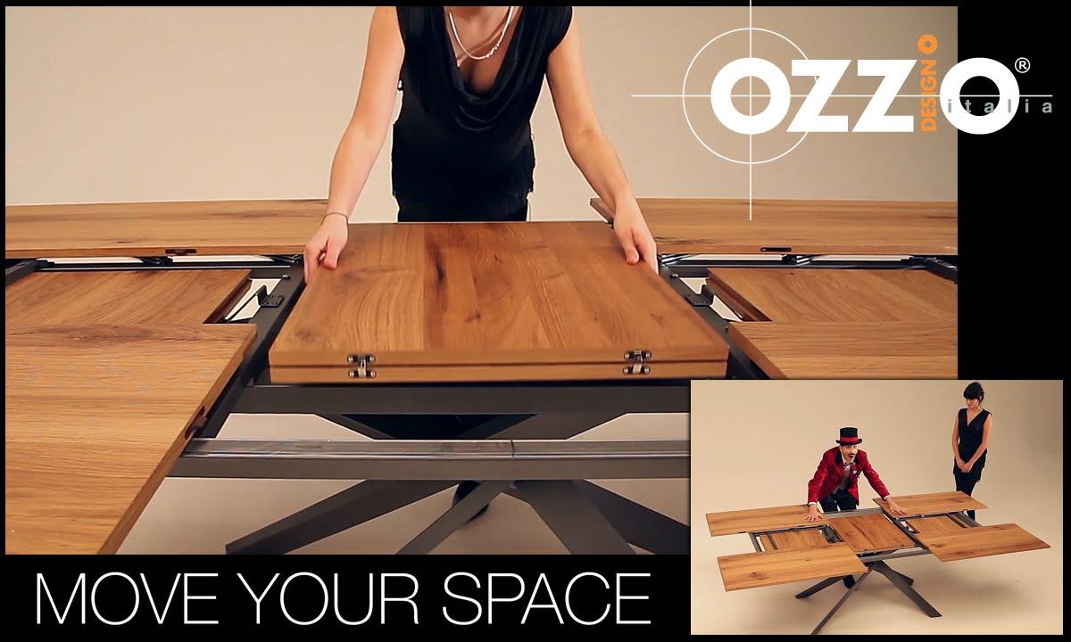 Ozzio | 4x4 | Tavolo da pranzo allungabile | Extendable table | Italian  space saving furniture