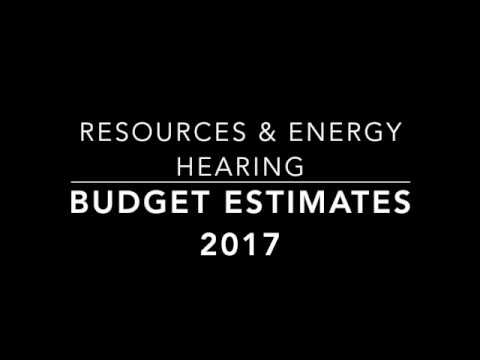[Budget Estimates] Resources & Energy Hearing - Adam Searle's questions to Minister Don Harwin