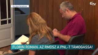Florin Roman: az RMDSZ a PNL-t támogassa! – Erdélyi Magyar Televízió