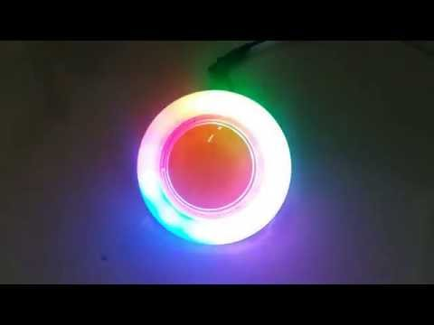 70mm UFO 7 lights flashing with middle push button