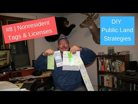 DIY Public Land Deer Hunting #8 | Tags And Drawings For Nonresidents