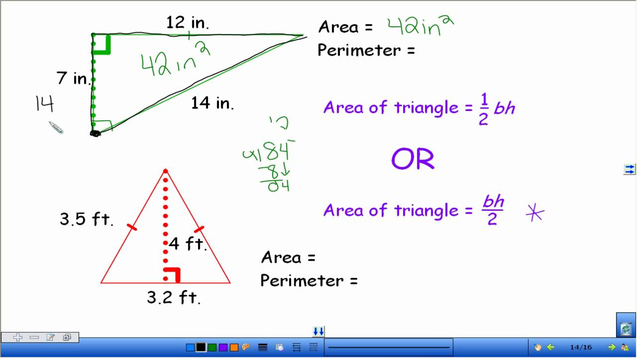 Area And Perimeter Of Triangles