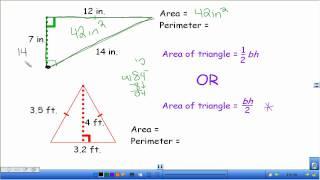 Area and Perimeter oḟ Triangles
