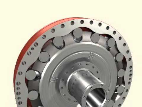 Silnik hydrauliczny Hagglunds - zasada dzia  ania - YouTube