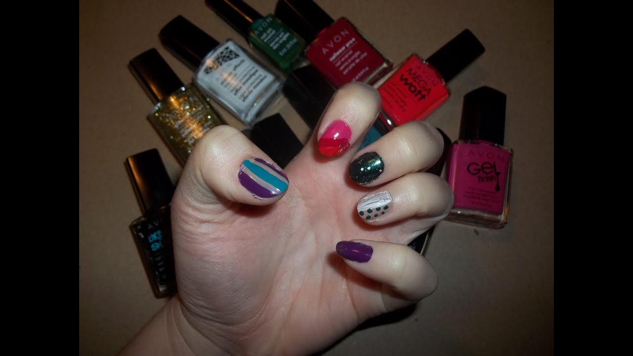 Tips & Ideas For Using Avon\'s Gel Finish 7 in 1 Nail Enamels - YouTube