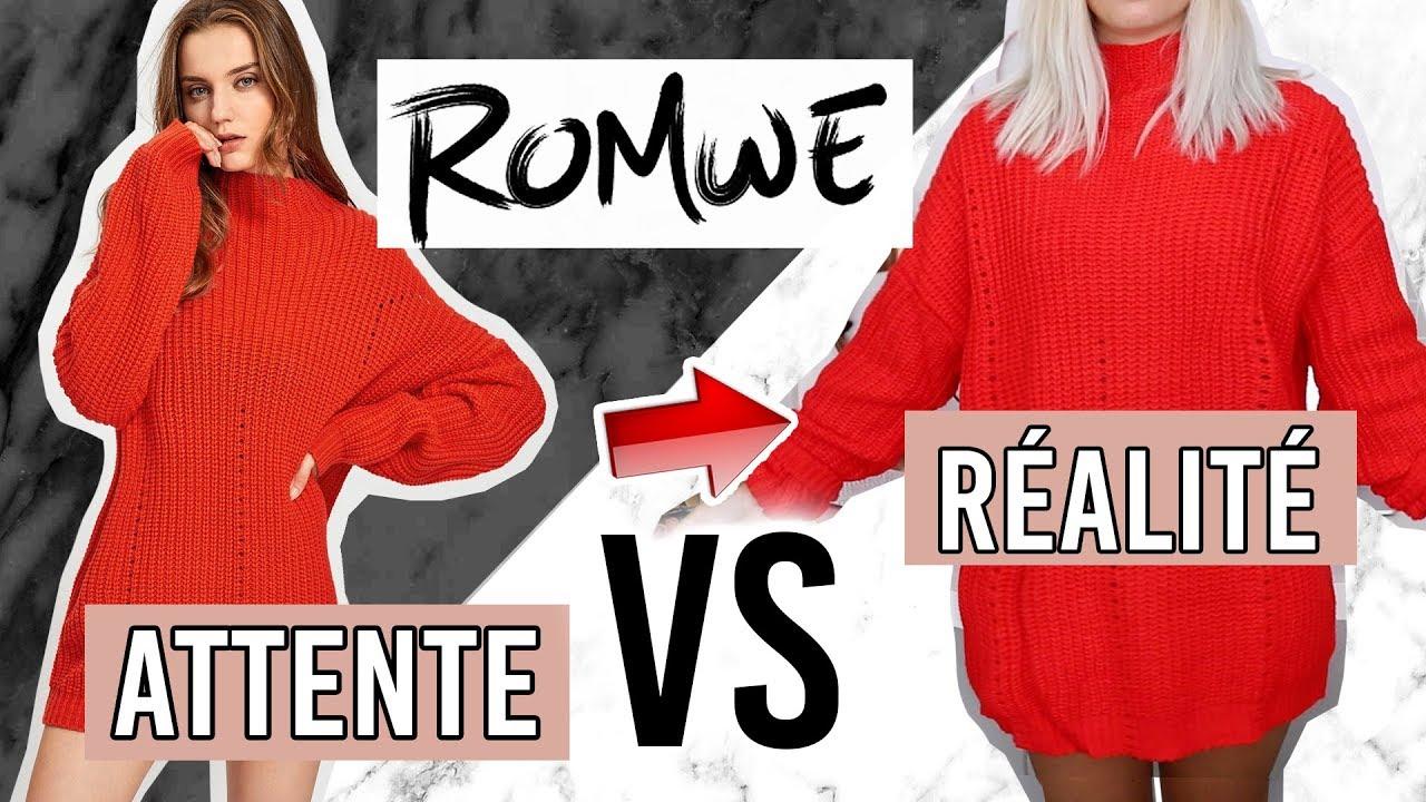 690967e76a ROMWE / CE QUE J'AI COMMANDÉ VS CE QUE J'AI REÇU ! - YouTube