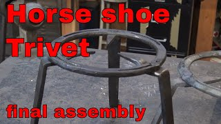 Horse shoe trivet - part 3 - New Mexican ironwork